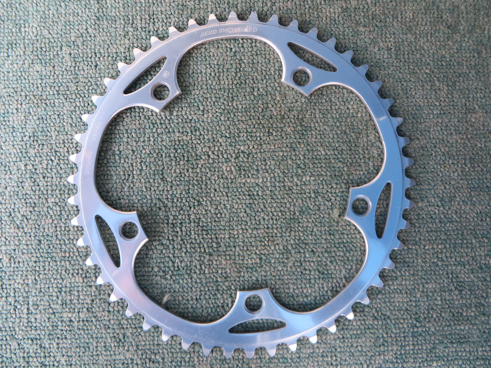 "Sugino Aero Mighty 144BCD 1/8"" NJS Chainring 50T (14102532)"