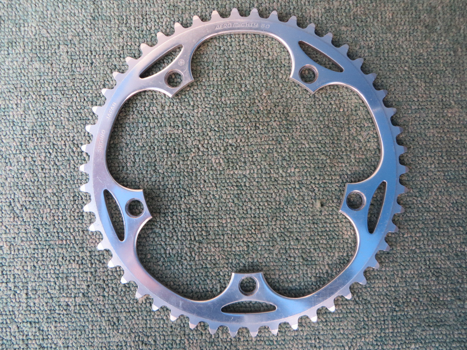 "Sugino Aero Mighty 144BCD 1/8"" NJS Chainring 50T (14102536)"
