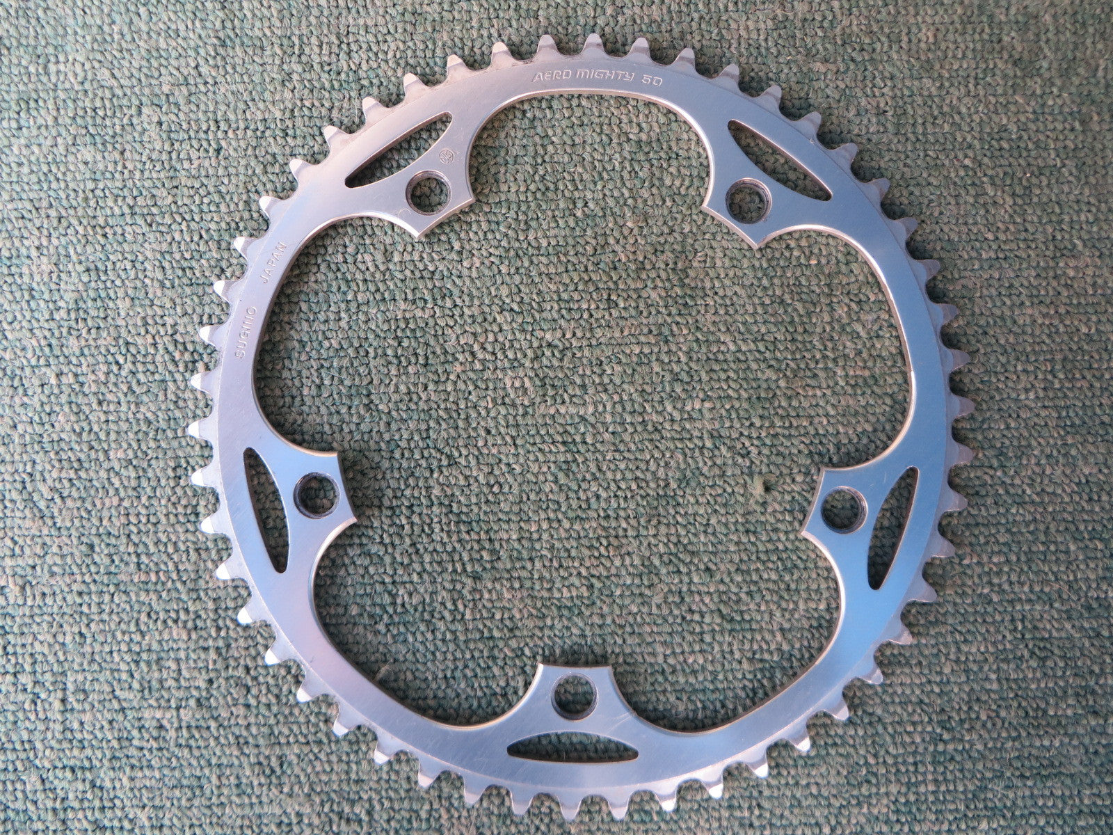 "Sugino Aero Mighty 144BCD 1/8"" NJS Chainring 50T (14102537)"