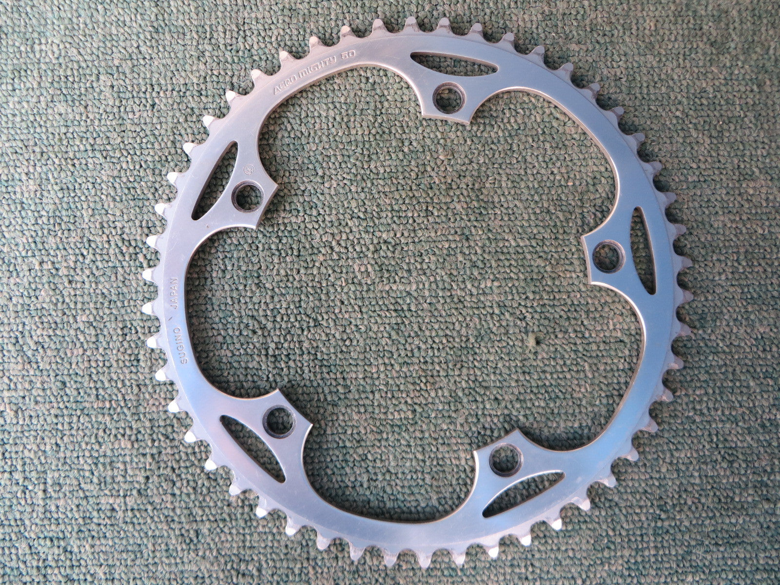 "Sugino Aero Mighty 144BCD 1/8"" NJS Chainring 50T (14102538)"