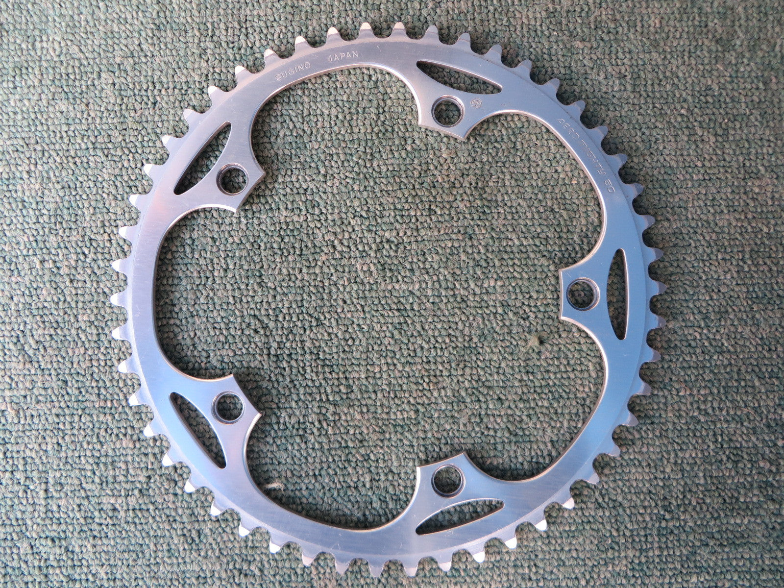 "Sugino Aero Mighty 144BCD 1/8"" NJS Chainring 50T (14102539)"