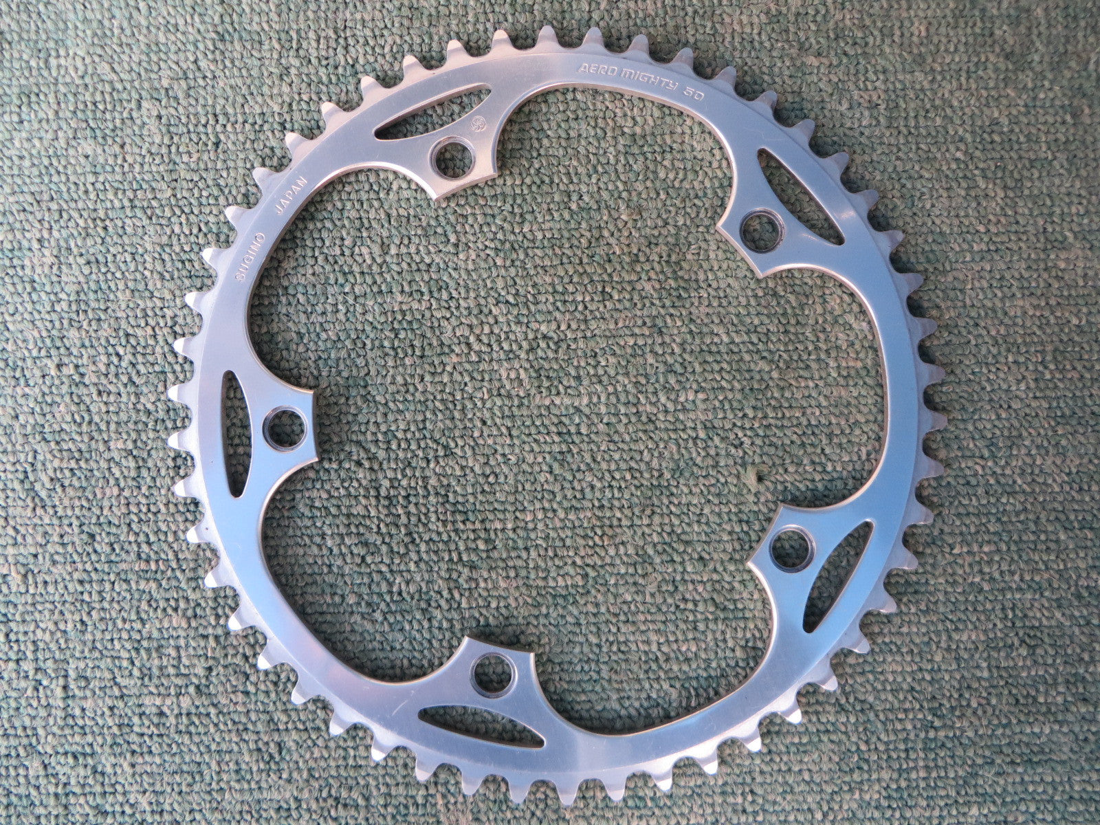 "Sugino Aero Mighty 144BCD 1/8"" NJS Chainring 50T (14102542)"