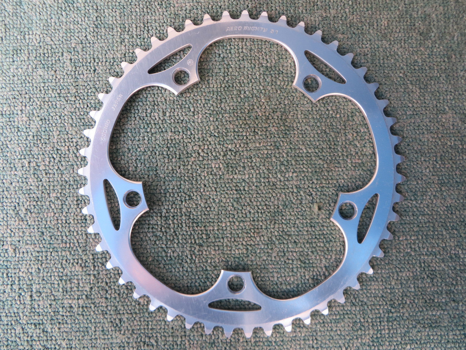 "Sugino Aero Mighty 144BCD 1/8"" NJS Chainring 51T (14102552)"