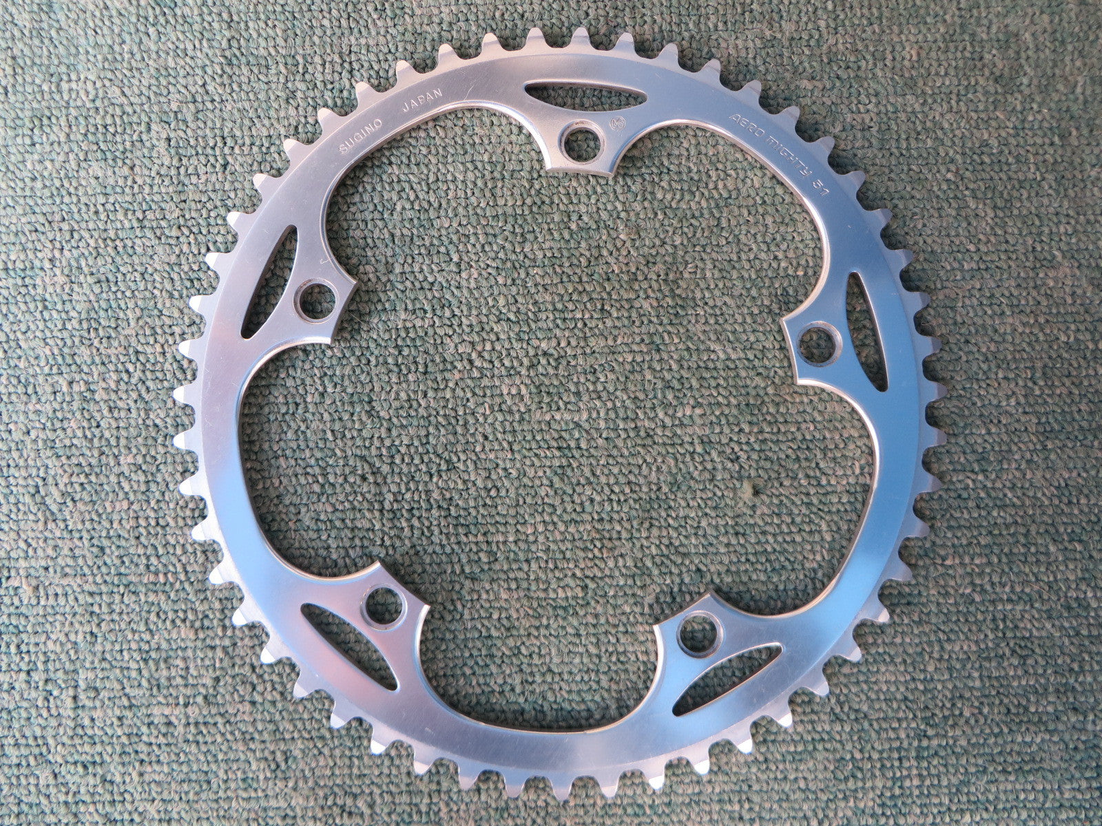 "Sugino Aero Mighty 144BCD 1/8"" NJS Chainring 51T (14102555)"