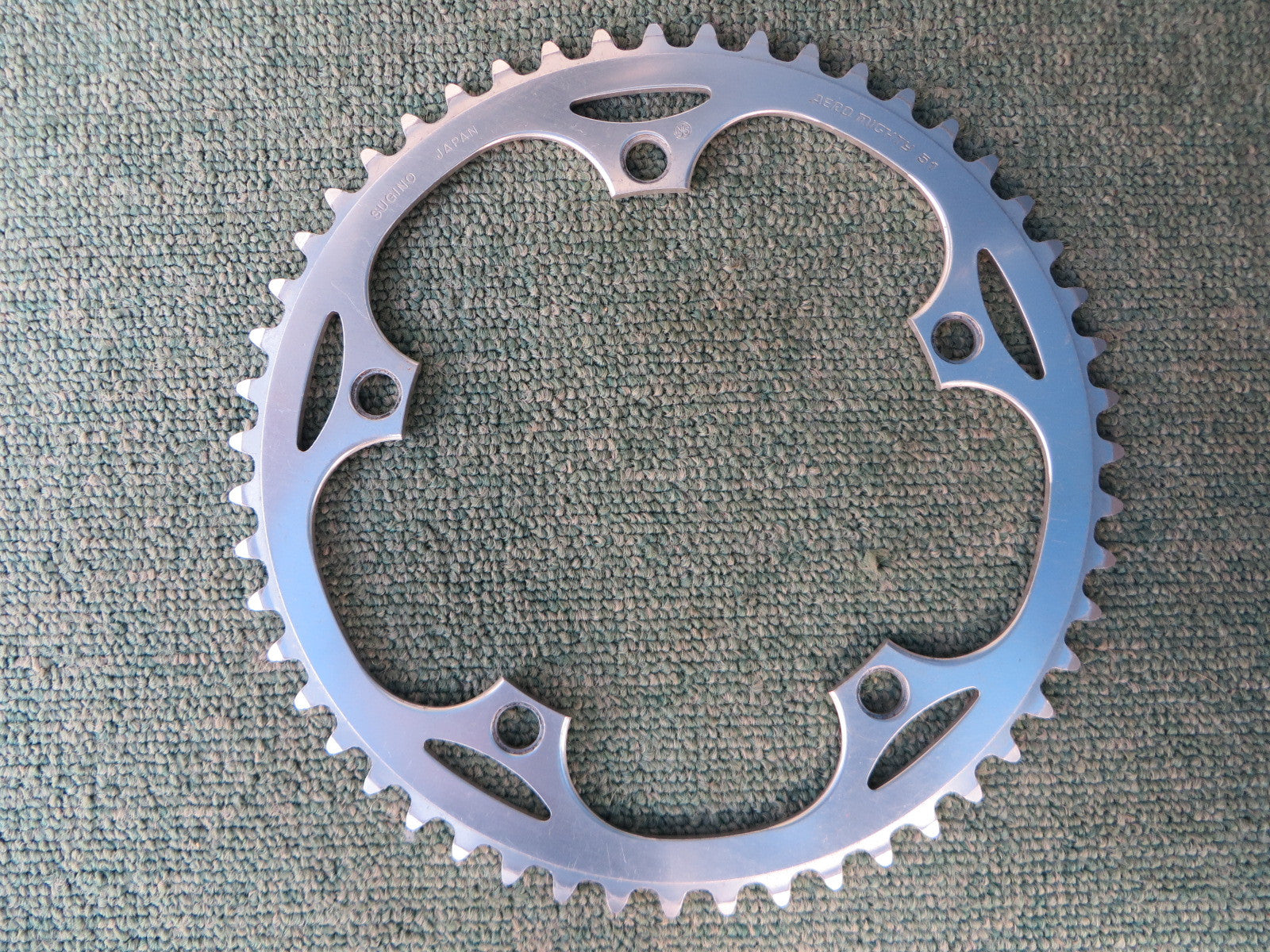 "Sugino Aero Mighty 144BCD 1/8"" NJS Chainring 51T (14102557)"