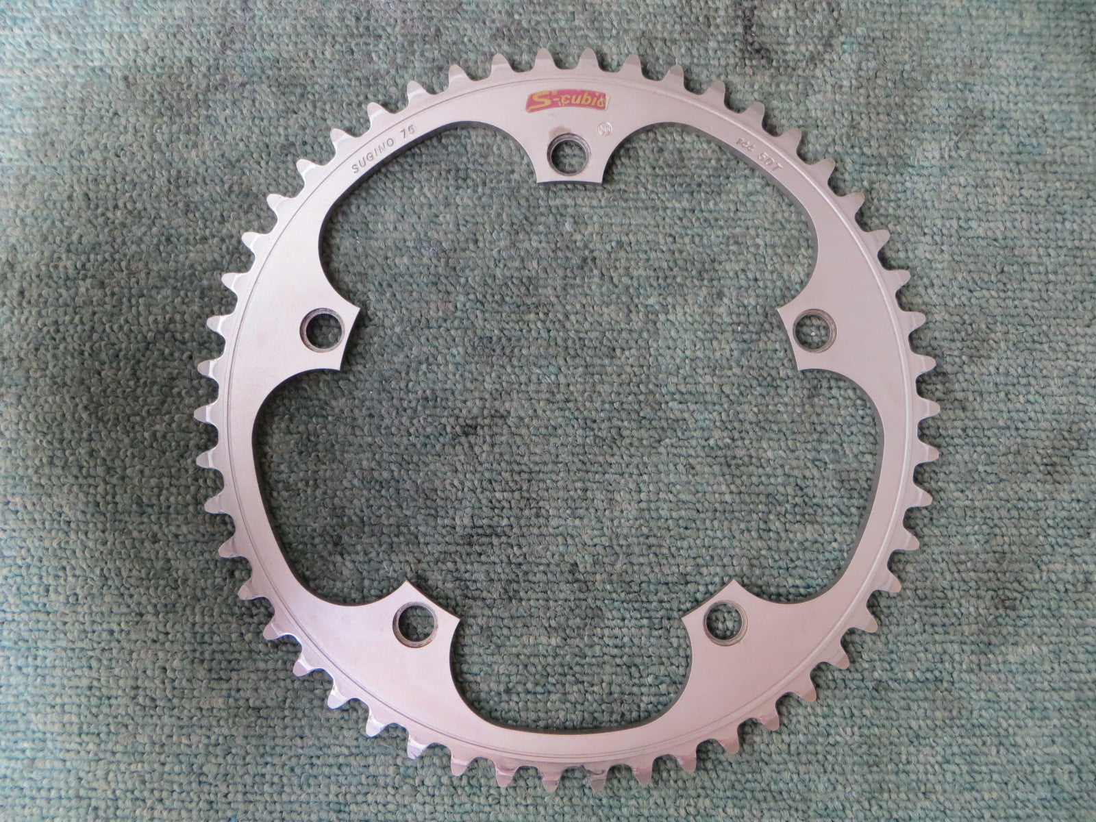 "Sugino S-cubic Matte Finish 1/8"" 144BCD NJS Chainring 50T (16062707)"