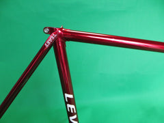 LEVEL // candy-red and dark grey two tone // 53.5cm