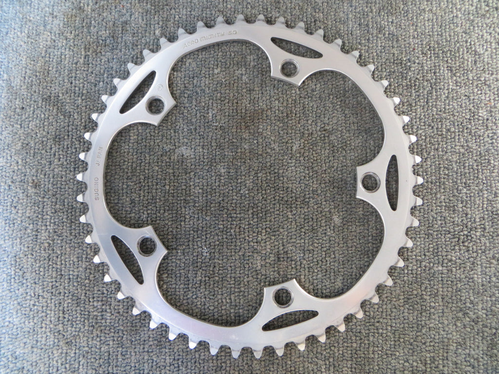 "Sugino Aero Mighty 1/8"" 144BCD NJS Chainring 50T (17071425)"