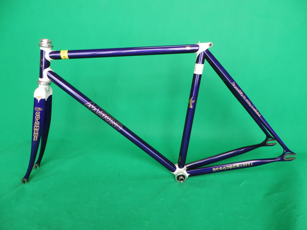 Makino Columbus Max Fork // Purple Metallic /  White Lugs // 49cm