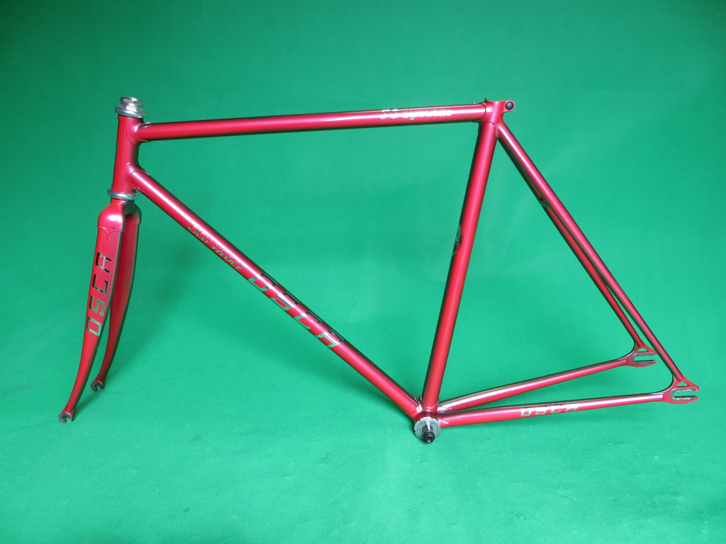 Osca //  Red Grey Metallic Fade //  Columbus Max Fork //  51.5cm