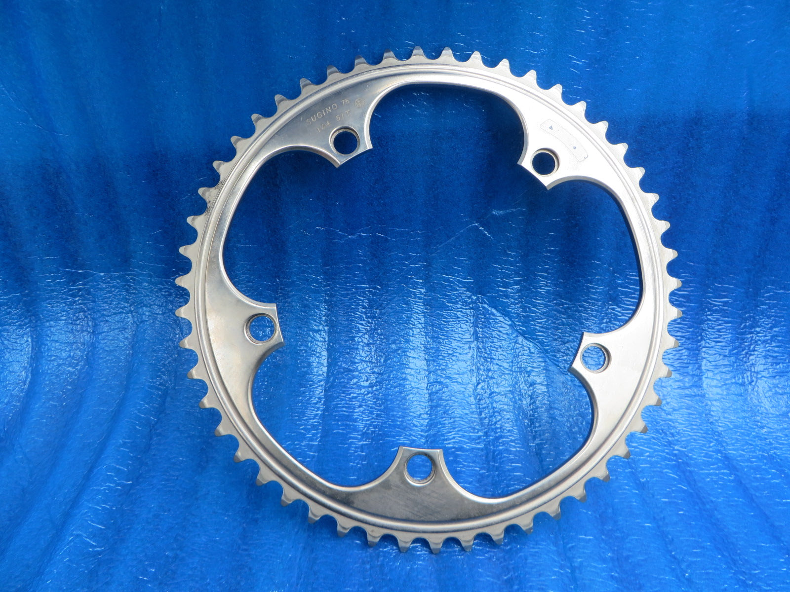 "Sugino 75 S-cubic 1/8"" 144BCD NJS Chainring 51T Mirror Finish (20052303)"