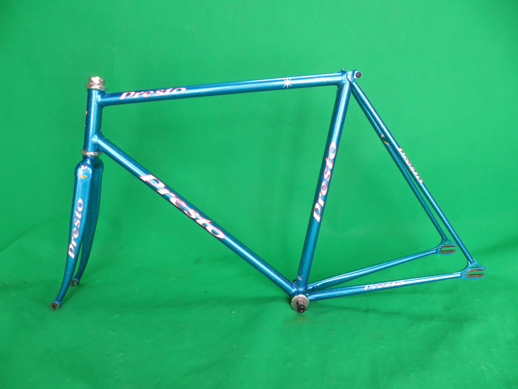 Presto // Blue Metallic with Rainbow Flake, Columbus Max Fork // 53.5cm