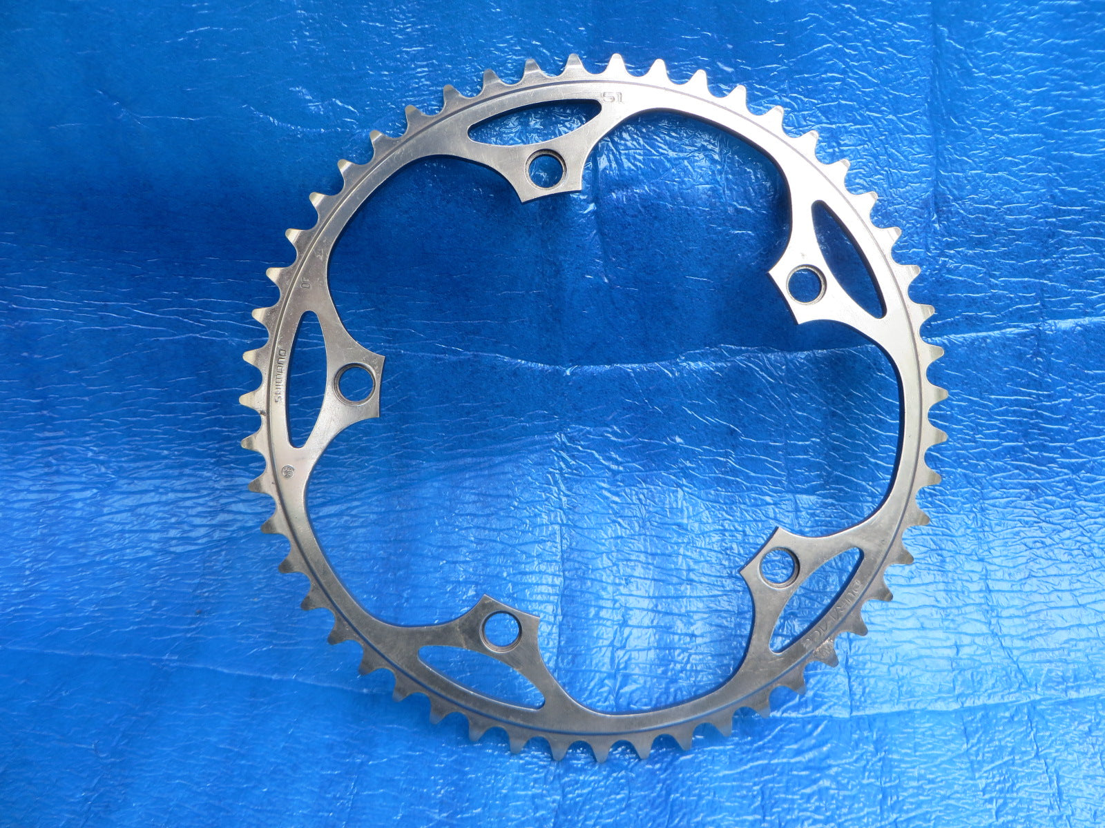 "Shimano Dura Ace FC-7710 1/8"" 144BCD NJS Chainring 51T Mirror Finish (19051631)"