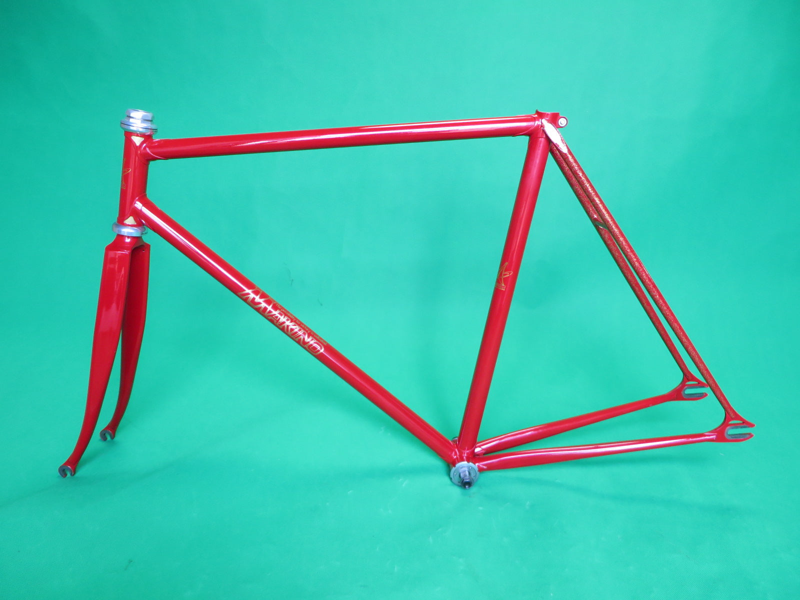 Makino // Red with gold flake // Columbus Max Fork // 53cm