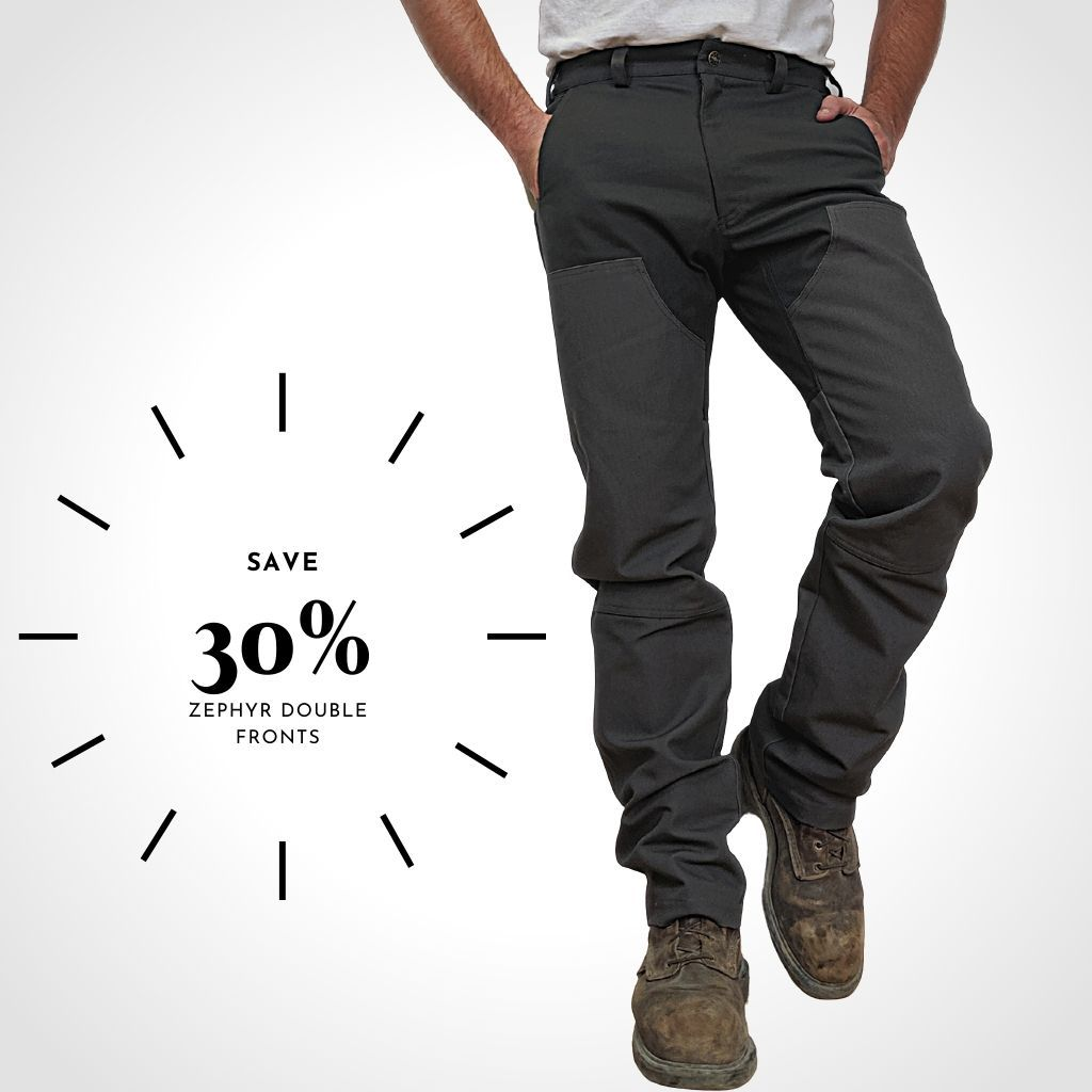 Men's double front work pants, Union Made in Canada