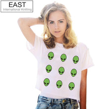 Load image into Gallery viewer, Alien Crop Top T-Shirt