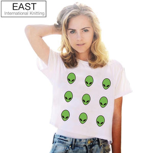 Alien Crop Top T-Shirt