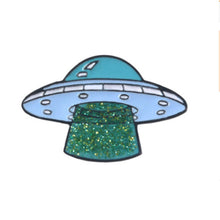 Load image into Gallery viewer, Cartoon Cute Creative UFO Drop Oil Cartoon Brooch Enamel  Pin Badge for Women and Men Clothing Jewelery