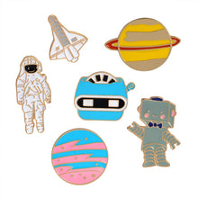 Load image into Gallery viewer, Rinhoo Enamel pin astronaut robot space plane star war plant brooch lapel pin badge Space jewelry collection Astronomy Gift