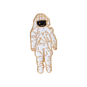 Rinhoo Enamel pin astronaut robot space plane star war plant brooch lapel pin badge Space jewelry collection Astronomy Gift