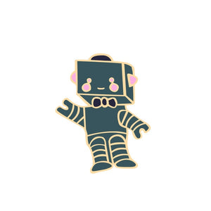 Colorful Round Robot Plane Astronaut Brooch Cartoon Space Enamel Pins Badge Jackets Lapels Pin Men Jewelry $4 more,free shipping