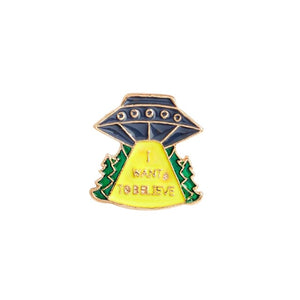 "GDHY Universe Brooch Cat UFO Yellow Pizza Space Astronaut Helmet NCC-1701 Spaceship""DRUGS""Earth Moon Enamel Pin Badge Brosche"