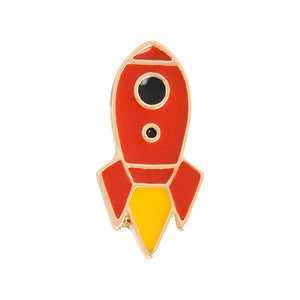 Romantic Universe UFO Planet Aircraft Rocket Cosmic Space Hot Air Balloon Airship Badges Metal Enamel Pin For Clothes Backpack