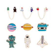 Load image into Gallery viewer, High quality astronaut series enamel brooch cute ladies pins hat backpack jackets badge men's clothes accessories kids gifts