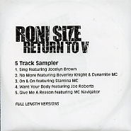 RONI SIZE & REPRAZENT - Return To V - 5 Track Sampler