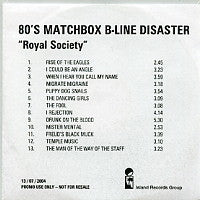 EIGHTIES MATCHBOX B-LINE DISASTER - Royal Society