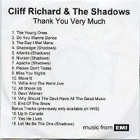 CLIFF RICHARD AND THE SHADOWS - Thank You Very Much