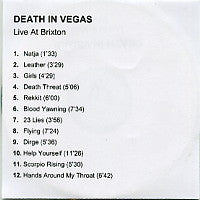 DEATH IN VEGAS - Live At Brixton