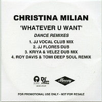 CHRISTINA MILIAN - Whatever U Want - Dance Remixes