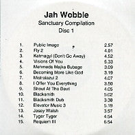 JAH WOBBLE - Sanctuary Compilation