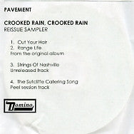 PAVEMENT - Crooked Rain, Crooked Rain - Reissue Sampler