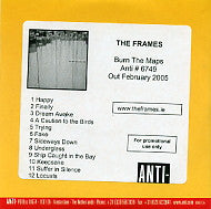 THE FRAMES - Burn The Maps