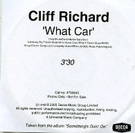 CLIFF RICHARD - What Car