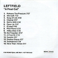 LEFTFIELD - A Final Cut