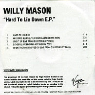 WILLY MASON - Hard To Lie Down EP