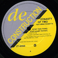 DYNASTY OF TWO - Stop This Thing / Energy