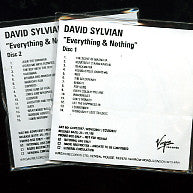 DAVID SYLVIAN - Everything & Nothing