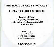 THE SEAL CUB CLUBBING CLUB - EP