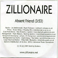 ZILLIONAIRE - Absent Friends