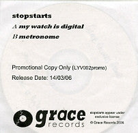 STOPSTARTS - My Watch Is Digital
