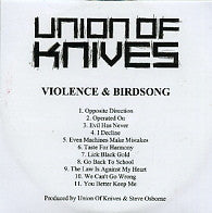 UNION OF KNIVES - Violence & Birdsong
