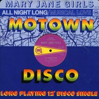 MARY JANE GIRLS - All Night Long / Musical Love
