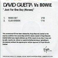 DAVID GUETTA vs BOWIE - Just For One Day (Heroes)