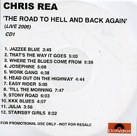 CHRIS REA - The Road To Hell And Back Again