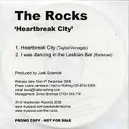 THE ROCKS - Heartbreak City