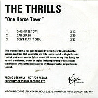 THE THRILLS - One Horse Town